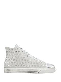 Gienchi-Sneakers alte Jean Michel in camoscio grigio