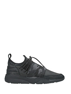 Filling Pieces-Sneakers Fuse Runner Low in pelle nera