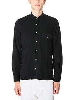 Low Brand-Camicia Shirt S10 in velluto nero