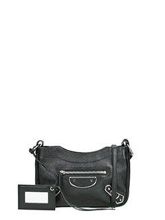 Balenciaga-Met hip aj black leather bag