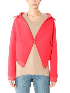 Balenciaga-Giacca in cotone e nylon rosso