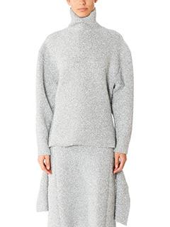 Balenciaga-silver polyamide knitwear
