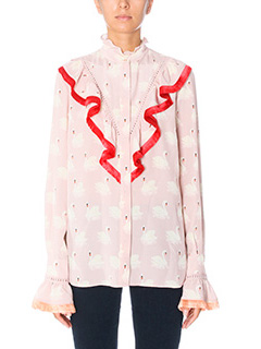 Stella McCartney-Camicia in seta rosa