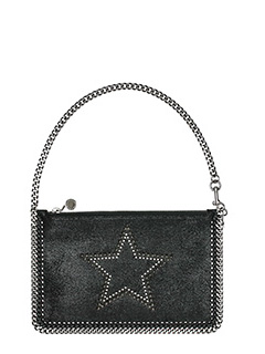Stella McCartney-Pochette Falabella Purse Star  in shaggy deer nero