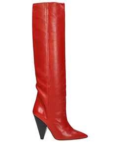 Isabel Marant-Stivali Laith Boots in pelle rossa