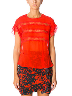 Isabel Marant-Spike red silk topwear