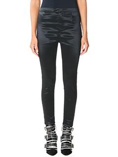 Isabel Marant-Pantaloni Nevada Slim in raso nero