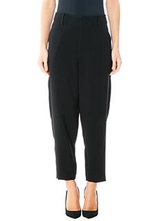 Isabel Marant-Pantaloni Amel in lana quadri grigia