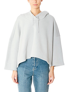 Balenciaga-Felpa Corta in cotone celeste
