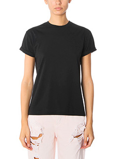 T by Alexander Wang-T-Shirt Superfin Jersey Logo  in jersey  nero
