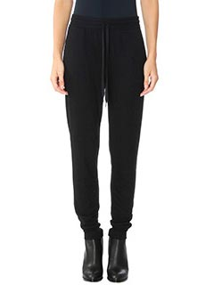 T by Alexander Wang-Pantaloni French in cr�pe nera
