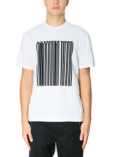 Alexander Wang-T-Shirt Embroidered  Barcode in cotone bianco