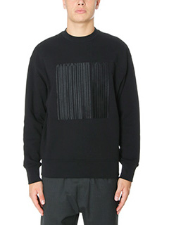 Alexander Wang-Felpa Embroidered  Barcode in cotone nero