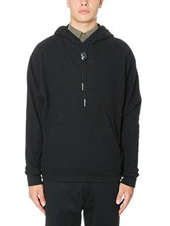 Alexander Wang-Felpa Long Sleeve Sweatshirt in cotone nero