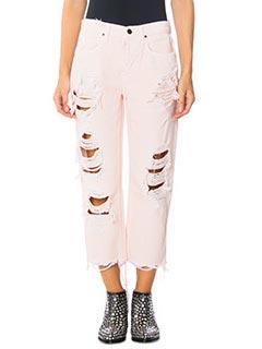 Alexander Wang-pink denim jeans