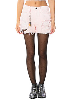 Alexander Wang-pink denim shorts