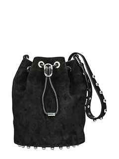 Alexander Wang-Alpha bucket black suede bag