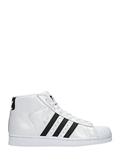 Adidas-Promodel  white leather sneakers