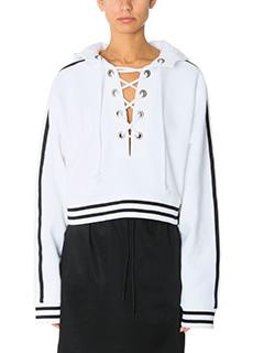 Puma-Rising sun  white cotton sweatshirt