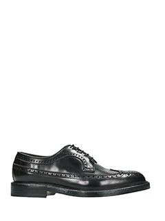 Andy Parker-Stringate Oxford in pelle nera