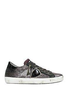 Philippe Model-Sneakers Classic in paillettes viola
