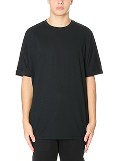 Helmut Lang-T-Shirt Oversized in cotone nero