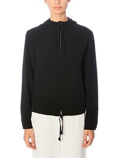 Theory-Charlia black polyester sweatshirt