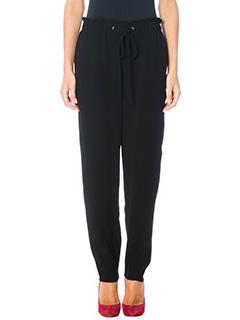 Theory-Pantaloni Tralpin in cr�pe nero