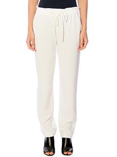 Theory-Pantaloni Tralpin in cr�pe bianca