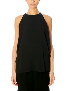 Theory-Bendana black silk topwear