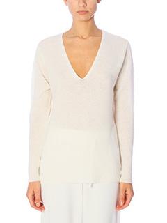 Theory-Maglia Adrianna in lana bianca