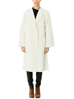 Helmut Lang-Shaggy long white wool outerwear