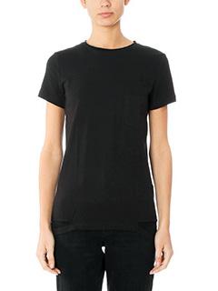 Helmut Lang-T-Shirt Slach Hem in cotone nero