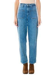 Helmut Lang-Jeans Crop in denim azzurro