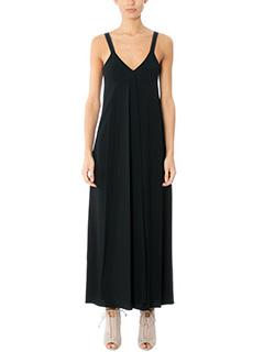 Helmut Lang-Vestito Cami Maxi Dress in seta nera