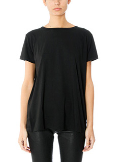 Helmut Lang-T-Shirt Open Back in jersey nero