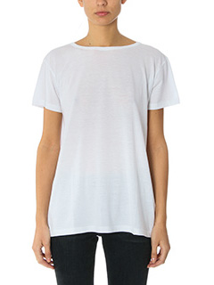 Helmut Lang-T-Shirt Open Back in jersey bianco