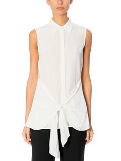 Theory-Zallane Sl white silk shirt