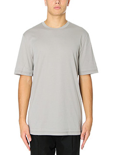 Helmut Lang-T-Shirt Double Layer  in cotone grigio