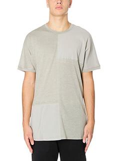 Helmut Lang-T-Shirt Samed Uni Slee in cotone e jersey verde