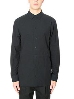 Helmut Lang-Camicia Double Pochet in cotone nero