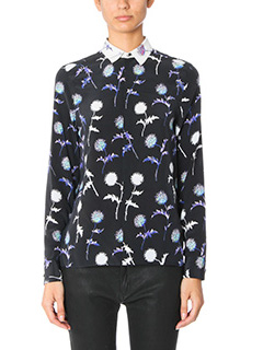 Kenzo-Dandelion blous black silk shirt