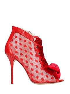 Sophia Webster-Tronchetti Mitsy Boots in pelle rossa