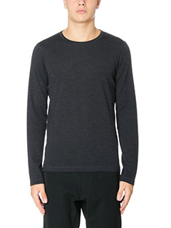 Jil Sander-Maglia Sweater Knitted in lana antracite