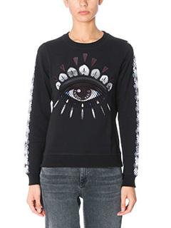 Kenzo-Felpa Eye in cotone nero