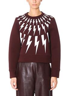 Neil Barrett-bordeaux Tech/syntetic sweatshirt