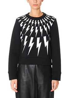 Neil Barrett-black Tech/syntetic sweatshirt