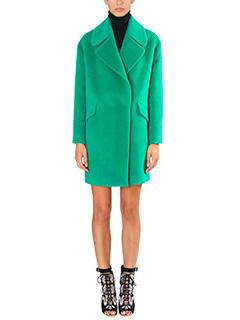 Tagliatore 0205-Cappotto Agatha in lana verde