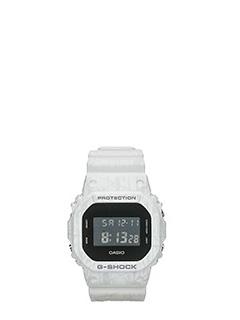 Casio-Orologio G-Shock DW5600S27ER in resina bianca-Shockproof