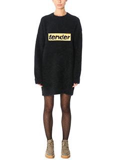 Alexander Wang-Vestito Oversized Dress in lana di angora nera